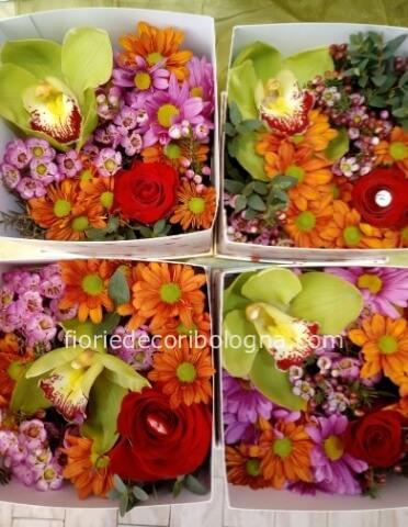 Spedizione Fiori.Flower Box Fiori Misti Fiorista A Bologna Vendita E Spedizione